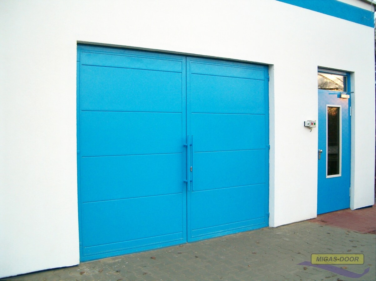 , Bramy garażowe – dwuskrzydłowe