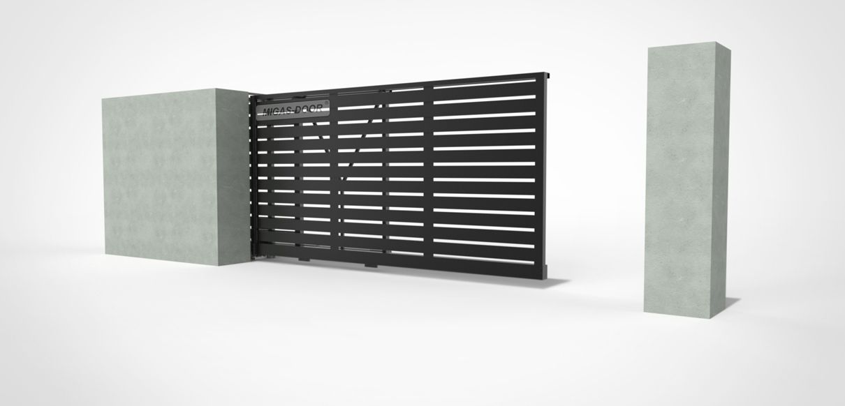 , Telescopic fence gates