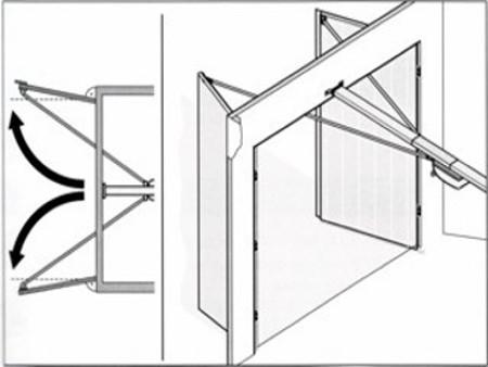 , Double-leaf garage door