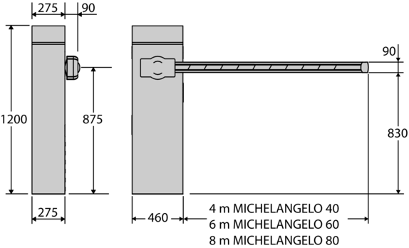, Szlabany – BFT Michelangelo