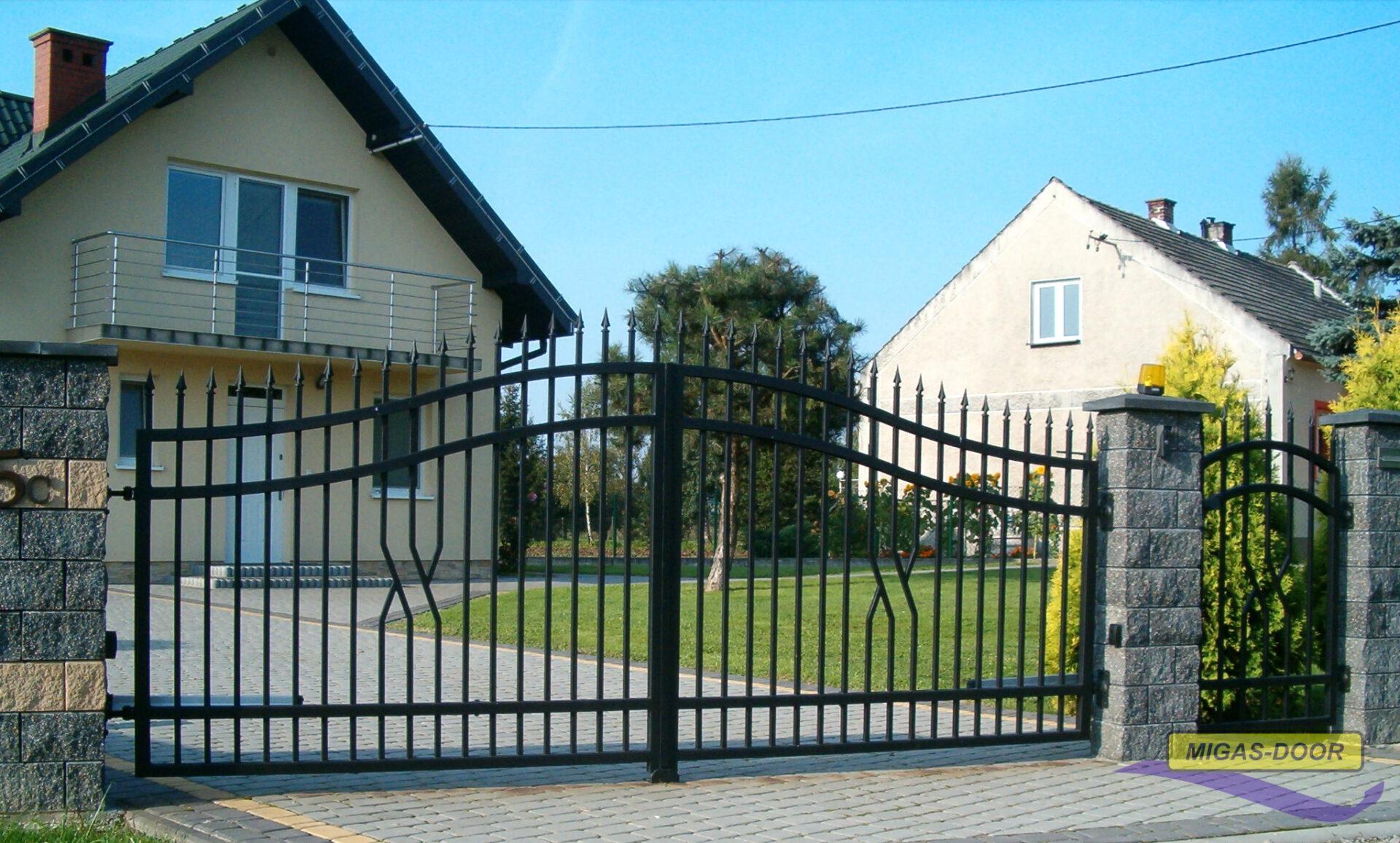 brama ogrodzeniowa dwuskrzydlowa lux
