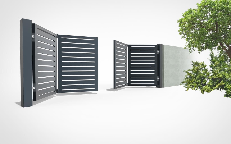 , Folding fence gates