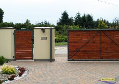 konstrukcja brama ogrodzeniowa przesuwna z furtka