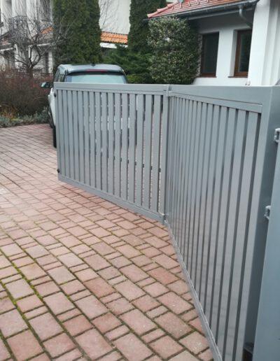 brama skrzydlowa harmonijkowa aluminium